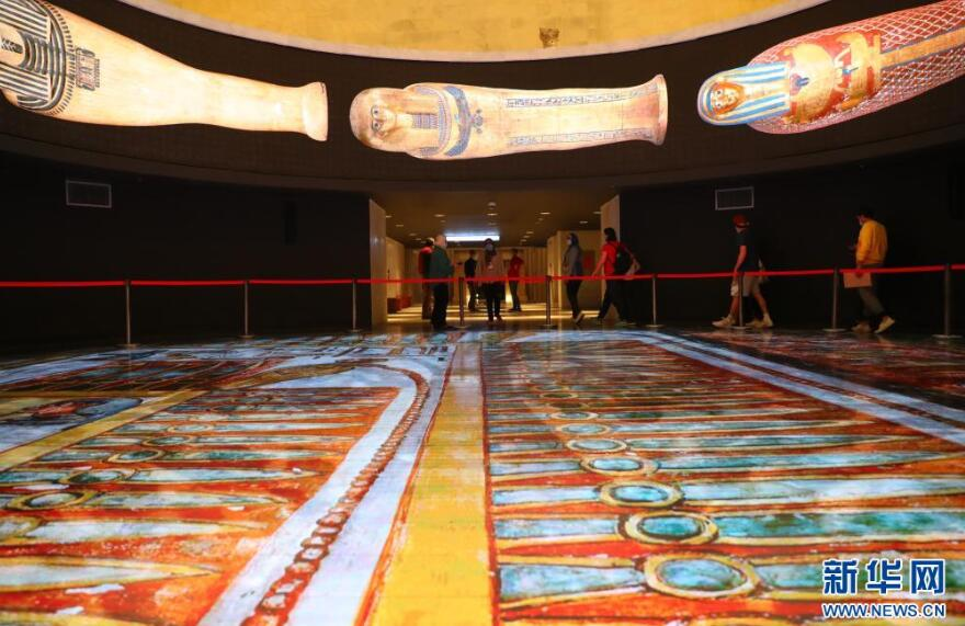 埃及文明博物馆王室木乃伊厅向公众开放
