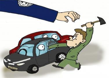 三男子砸車窗盜竊 咸安警方跨省抓獲逃犯破了案