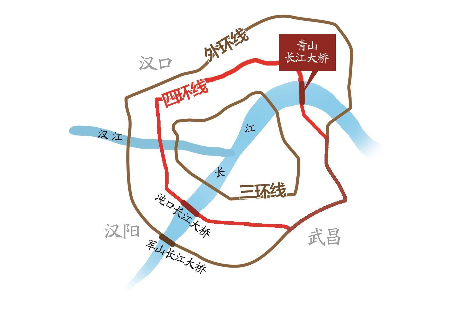 """武汉四环线正式开通全线运营 148公里长的四环""""画圆"""""""