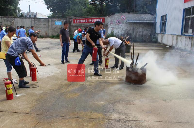 图文:城区的哥消防演练