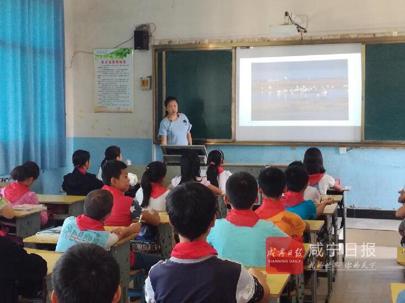 图文:湿地宣传教育进校园
