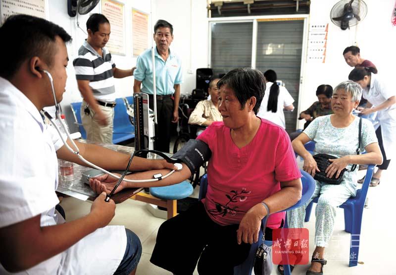 图文:健康体检进社区