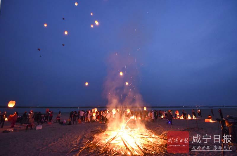 图文:簰洲湾团洲篝火晚会