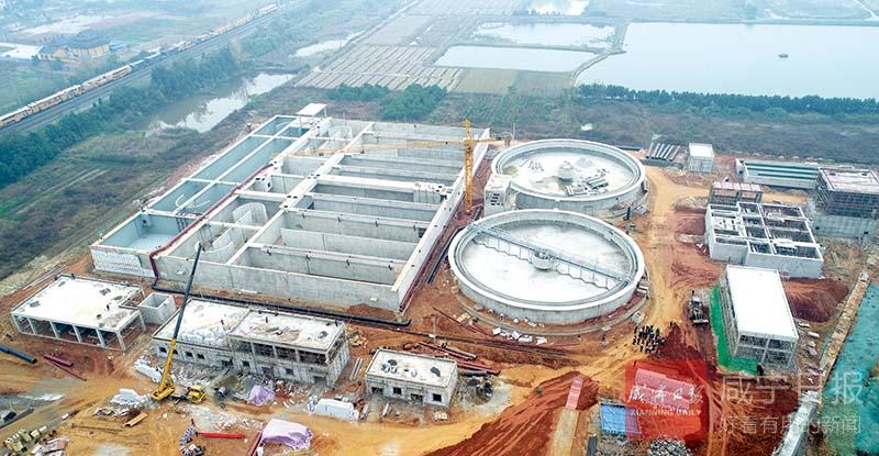图文:高新区三期污水处理厂年底通水调试