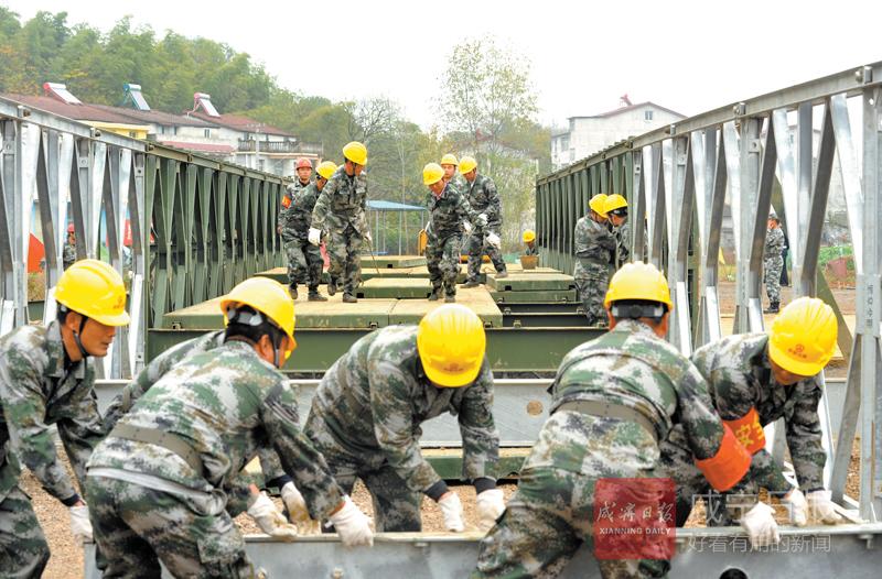图文:公路桥梁应急演练