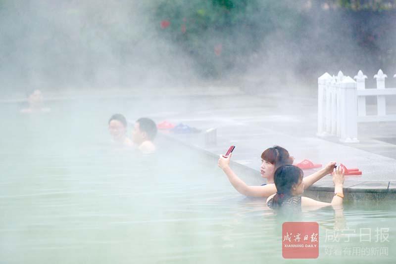 图文:天气冷 温泉热