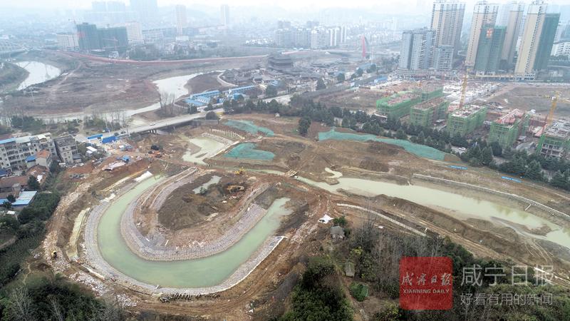 圖文:龍潭河濕地公園施工正酣