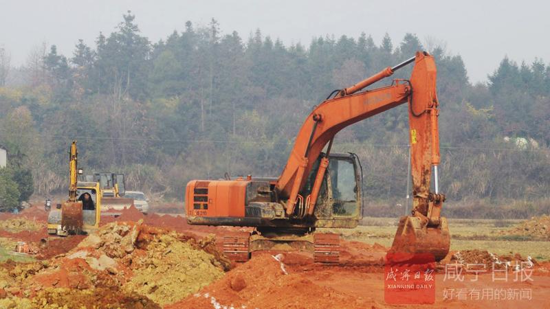 图文:咸宁农高区推进路网建设