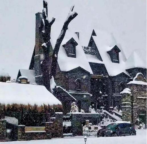 图文:雪中的光年城堡