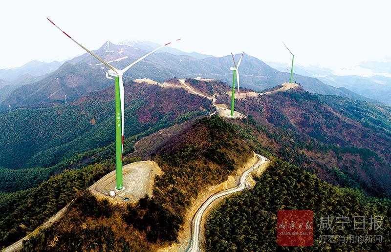 圖文:大幕山風電項目今年底將完工