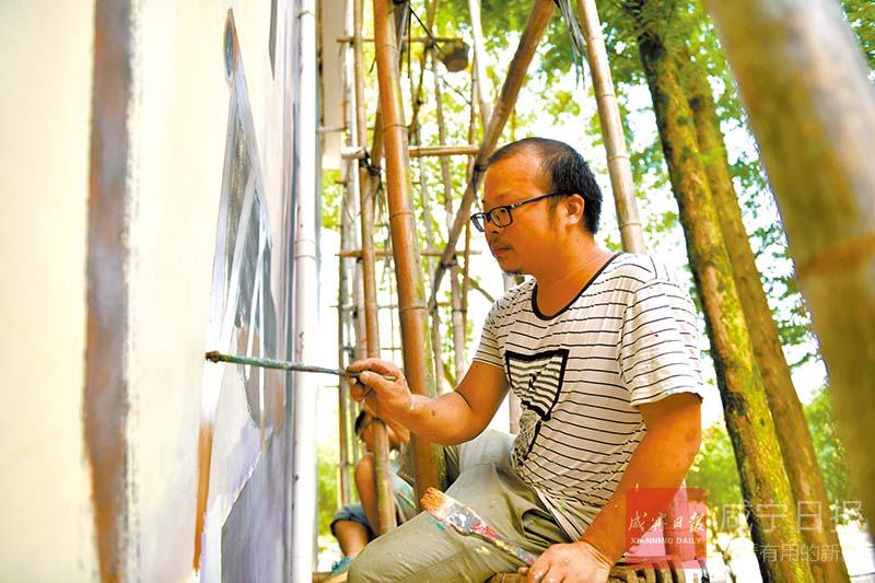 圖文:崇陽桂花泉鎮打造農夫創意小街區