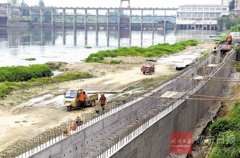 圖文:崇陽城區建設排污管道
