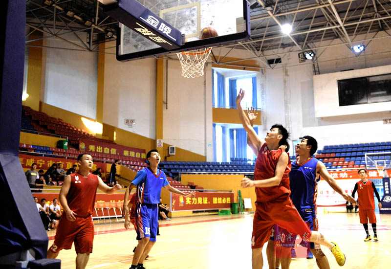 圖文:市直籃球競賽開賽