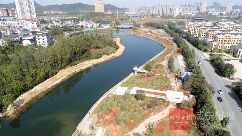 图文:龙潭河湿地公园现雏形