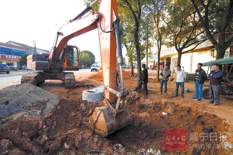 图文:咸安区向阳湖镇提升镇容镇貌