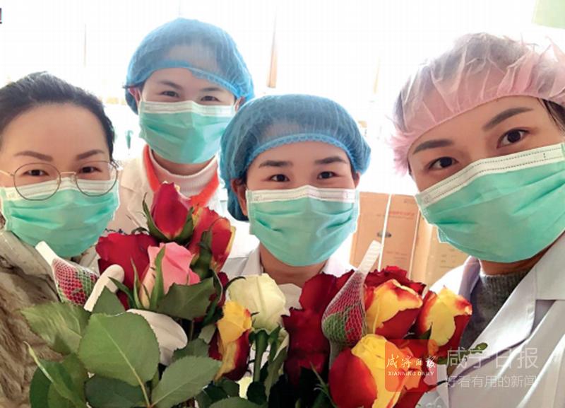 图文:送医护人员鲜花