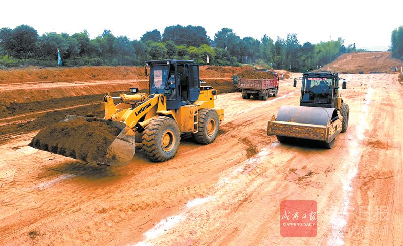 圖文:107國道赤壁段改擴建工程加緊施工