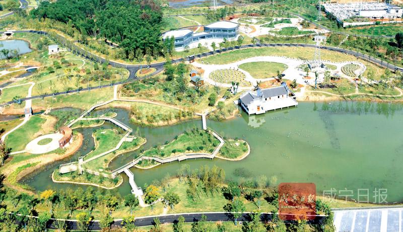 圖文:赤壁 公園建在家門口市民幸福在疊加