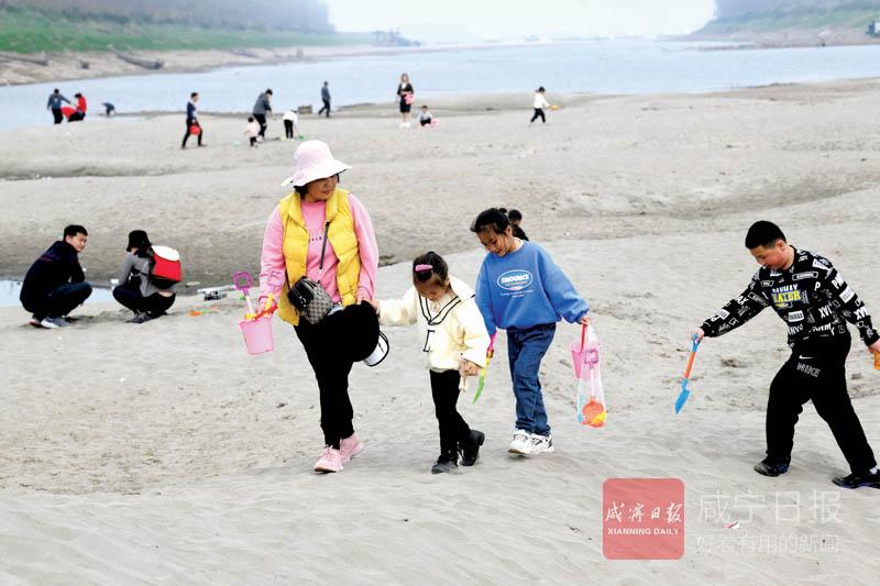 圖文:嘉魚清水溝沙灘成網紅打卡點