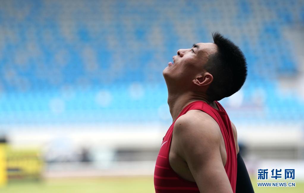 全国田径冠军赛男子三级跳远决赛:朱亚明获得冠军