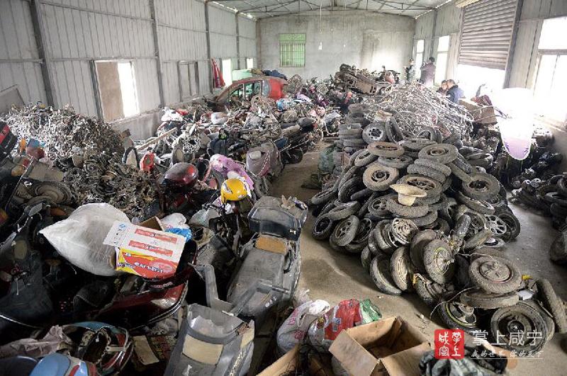 温泉警方破获2017年1号专案 查扣电动车200余台