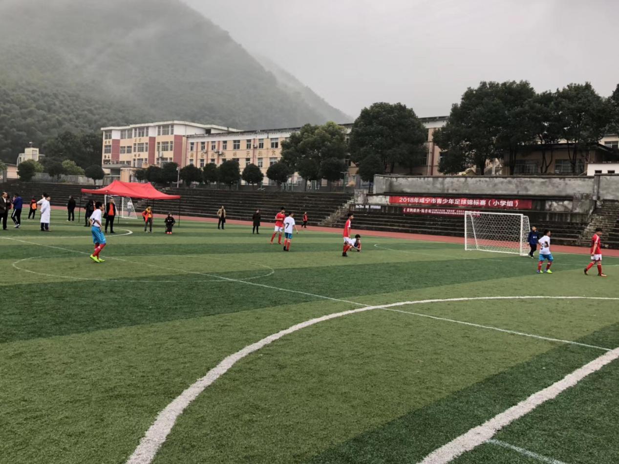 """2018年咸宁市足球""""四进校园""""暨青少年足球竞标赛在赤壁市举行"""