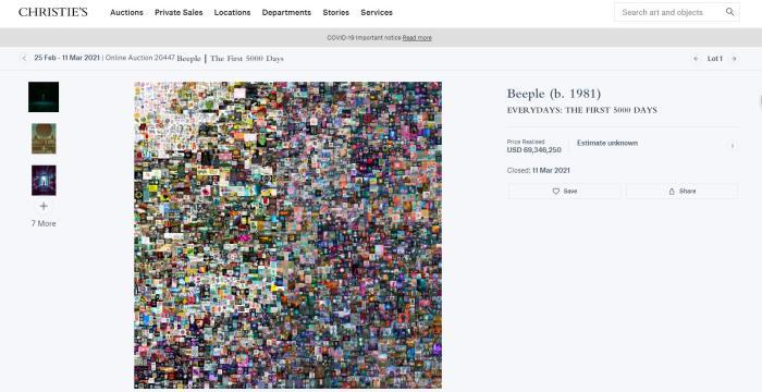砸4.5億元買一件虛擬藝術品,咋想的?